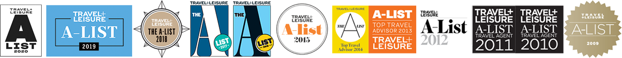 Travel & Leisure Magazine A-List Top Travel Advisor since 2009