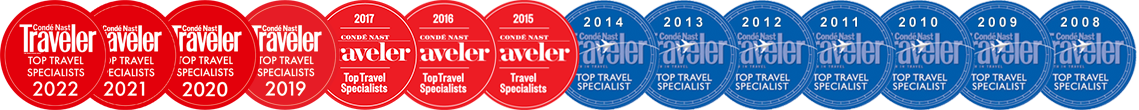 Condé Nast Traveler Top Travel Specialist since 2008